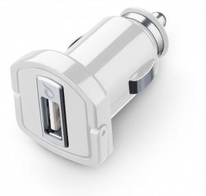 Cellularline MICROCBRUSBIPHW Caricabatterie per dispositivi mobili Auto Bianco