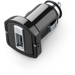 Cellularline MICROCBRUSB1AK Caricabatterie per dispositivi mobili Auto Nero, Argento