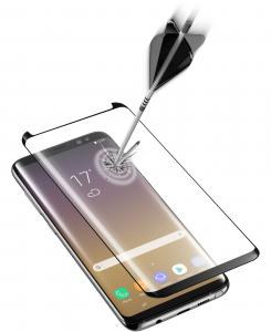 Cellularline Second Glass Ultra Curved - Galaxy Note 8 Vetro curvo temperato, resistente e ultra sottile Trasparente/Nero
