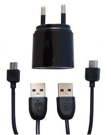 Twodots XJAC0489 Interno Nero caricabatterie per cellulari e PDA