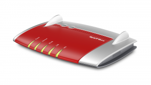 AVM FRITZ!Box 4040 Dual-band (2.4 GHz/5 GHz) Gigabit Ethernet Rosso, Argento router wireless