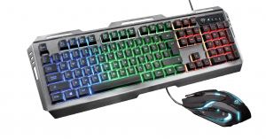 Trust GXT 845 Tural Gaming Combo IT USB QWERTY Italiano Nero
