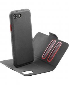 Cellularline Match - iPhone 8/7 Custodia a libro con cover interna removibile Nero