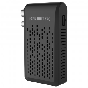 ADB i-CAN T370 set-top box TV Terrestre Nero