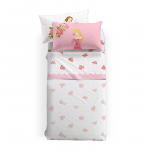 Lenzuola Principesse Disney Caleffi PRICESS ROSE 100% cotone