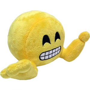 Peluche: Plushiez Emoji (11cm) Grinning Face