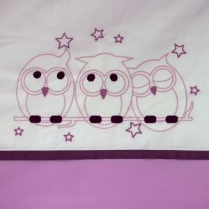 Linea ricamato Gufo rosa 4 pezzi con ricamato  related image