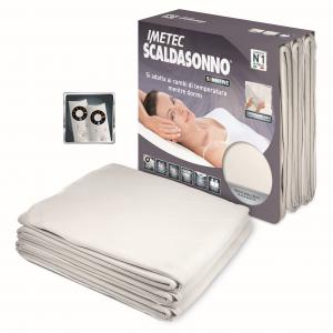 Imetec Scaldasonno Sensitive Maxi 190x160 Doppia Coperta elettrica 300W Bianco Microfibra 16287