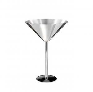 Coppa Martini in acciaio inox set 6 pezzi cm.15h diam.11