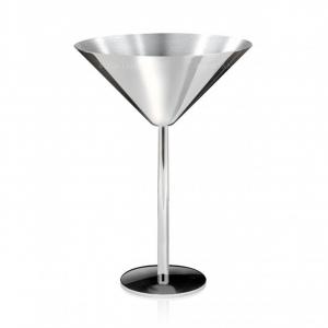 Coppa martini in acciaio inox cm.15h diam.11