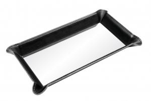 Vuotatasche nero con piastrina cm.23x12,5x2,4h