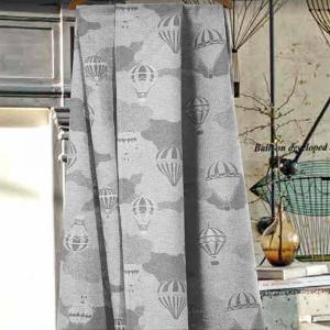 Granfoulard telo arredo copritutto mongolfiere grigio - varie misure