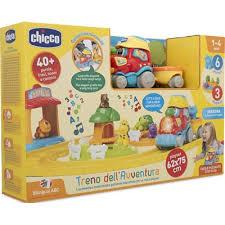 Trenino delle avventure bilingue adatto ai bambini da 1 anno /4 anni Chicco