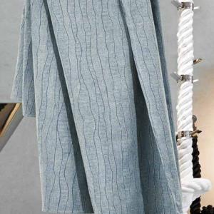 Granfoulard telo arredo copritutto rigato azzurro - varie misure
