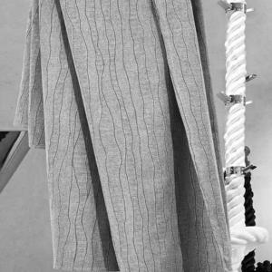 Granfoulard telo arredo copritutto rigato grigio - varie misure
