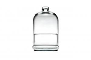 Contenitore in vetro con cupola cl 55 cm.19h diam.10,4