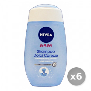 Set 6 NIVEA Baby Shampoo Dolci Carezze 200 ml 86150 Cura del Bambino e Neonato