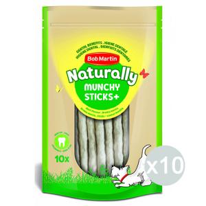 Set 10 BOB MARTIN Ossi Naturally Bastoncini Menta 10 Pezzi 12212135 Snack E Treat Per Cane