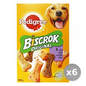 Set 6 PEDIGREE Biscotti Biscrok 500 gr Cibo per Cani