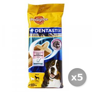 Set 5 PEDIGREE Dentastix Maxi x 7 Pezzi + 25 kg Cibo per Cani