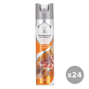 AIR FLOR Set 24 AIR FLOR Spray Argan spezie 300 ml Deodorante Casa