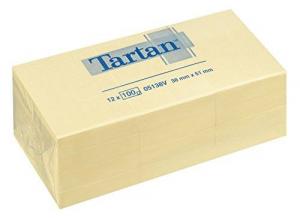 3M 12 blocchetti tartan notes da 100 foglietti ognuno 38 x 51mm per annotazioni