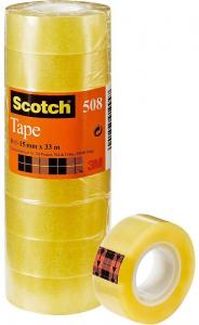 3M Confezione 10 pezzi scotch trasparente 15mm x 33mm