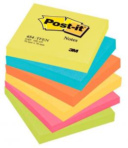 3M Confezione 6 blocchetti post-it da 100 foglietti ognuno a colori assortiti