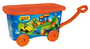 ANDRONI Carrello costruzioni unico con manico e ruote gioco per bambini