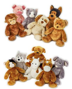 VENTURELLI Supersoft 12 animali assortito peluche animale
