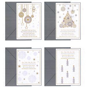 Biglietti Natale Decori Eleganti Confezione 12 04628901