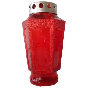 Set 9 confezioni lanterna in plastica per lumini rossa 1843 candela