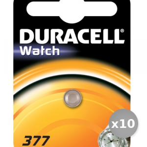 Set 10 DURACELL batteria d377 servizi generali