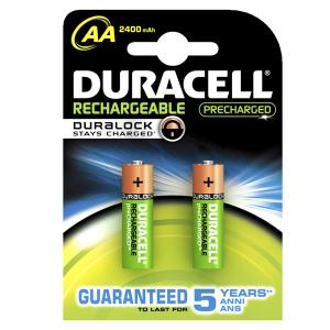 DURACELL 056985 Batteria Aa Ricaricabile Precharged 2400mah Confezione 2 Pezzi
