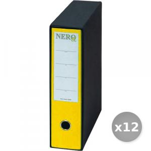 Set 12 BREFIOCART raccoglitore protocollo d8 giallo 0201150 dossier