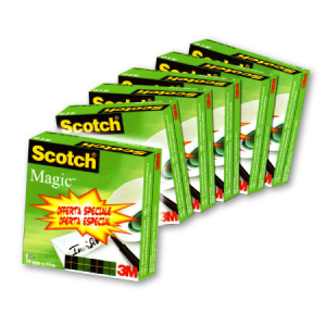 3M SCOTCH Rotolo Adesivo 3 m 810 Magic 19x33 5 + 1 55677 Cancelleria