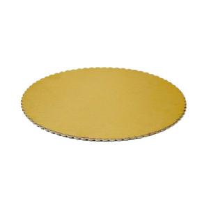 Set 10 confezioni dischi torta cappato oro diametro 40 cm.confezione 1 kg