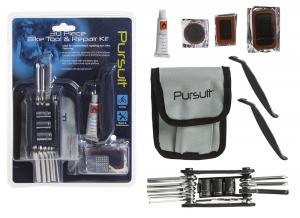 PURSUIT Kit di 30 pezzi di ricambio e strumenti per la riparazione della bici