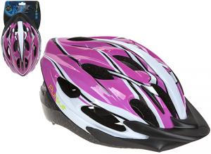 PURSUIT Casco da bici con visiera 48cm-54cm taglia s grafite viola