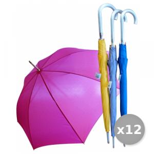 VERRI Set 12 Ombrello Grande Automatico Tinta Unita Articolo 120 Accessori Per la Casa