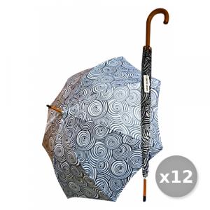 Set 12 Ombrello Grande Impugnatura In Legno ART.04 Accessori Per la Casa