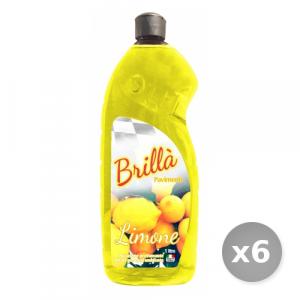 Set 6 BRILLA' Pavimenti limone 1L detergente profumato prodotto per la casa