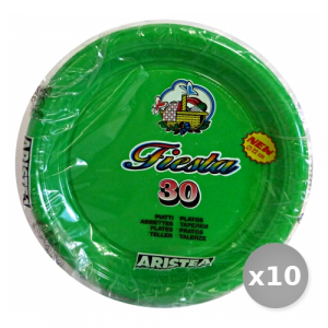 Set 10 ARISTEA Piatti Colorato Piani 30 Pezzi Verde Art.165205 Piatti