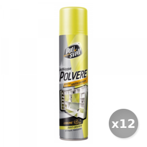 Set 12 BERGEN Pulisvelt Acchiappa-polvere Limone 300 ml Spray - Pulitori Specifici