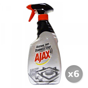 Set 6 AJAX Acciaio Inox Grilletto 500 ml - Sgrassatori