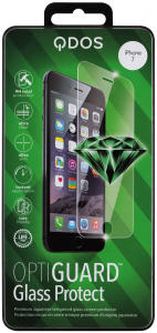 QDOS Pellicola OptiGuard Vetro Protezione per schermo per iPhone 8, 7 - Trasparente