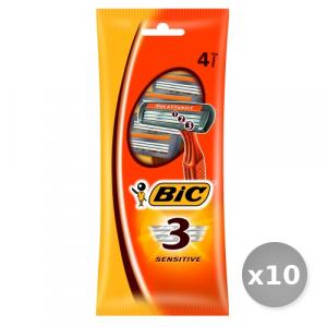 Set 10 BIC Sensitive 3 Lame r&g x 5 + 1 Pezzi Prodotti per Rasatura