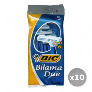 Set 10 BIC Bilama 2 Lame r&g x 5 Pezzi Prodotti per Rasatura
