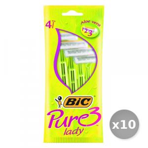 Set 10 BIC Lady  3 Lame r&g x 4 Pezzi Prodotti per Rasatura