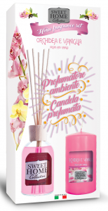 SWEET HOME Idea Regalo Diffusore Candela Profumata Orchidea&vaniglia